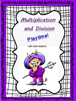 Multiplication and Division - Playtime Worksheets (with br