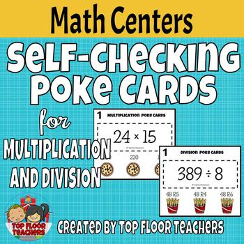 Multiplication and Division Poke Cards