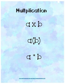 Multiplication and Division Posters