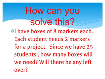 Multiplication and Division PowerPoint Presentation: Making and Breaking Groups