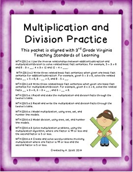 Multiplication and Division Practice - Grade 3