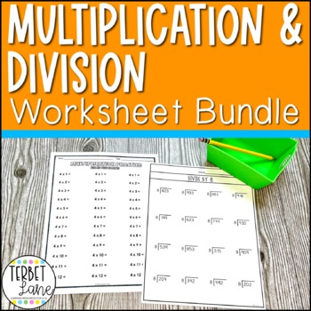 Multiplication and Division Practice Sheets and Speed Drills Bundle