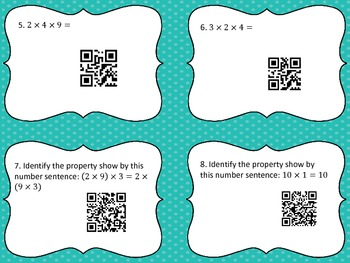 Multiplication and Division Practice and Properties