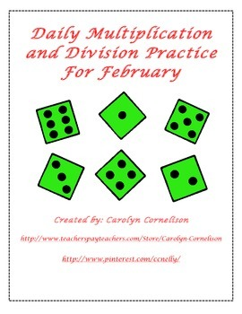 Multiplication and Division Practice for February