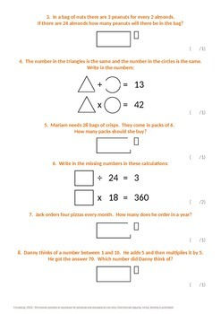 Multiplication and Division:  Problem Solving