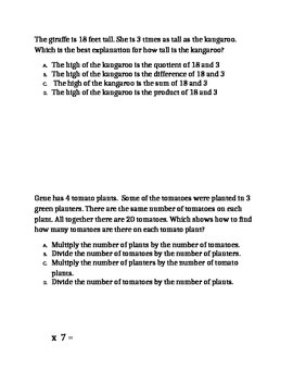 Multiplication and Division Problem Solving #2