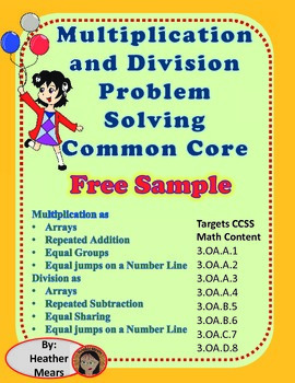 Multiplication Problem Solving Division Problem Solving  f
