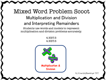 Multiplication and Division Problem Solving Scoot