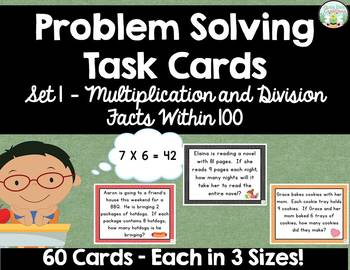 Multiplication and Division Problem SolvingTask Cards