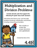 Multiplication and Division Problems (TEKS 4.4H) STAAR Practice