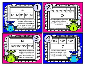 Multiplication and Division Problems Using Strip Diagrams: New 4th Grade TEKS