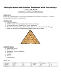 Multiplication and Division Problems and Vocabulary Game P