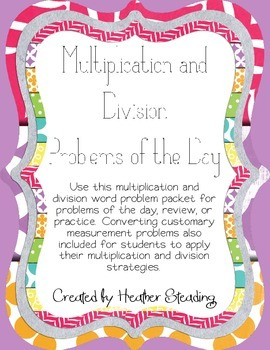 Multiplication and Division Problems of the Day