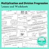 Multiplication and Division Progression Worksheets