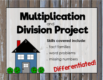 Multiplication and Division Project (Differentiated)