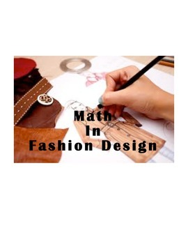 Multiplication and Division Project:  I Want To Be a Fashion Designer