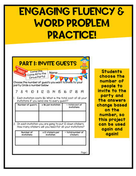Multiplication and Division Project   Plan a Circus Party