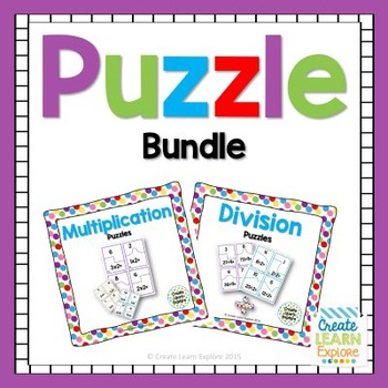 Multiplication and Division Puzzle Bundle