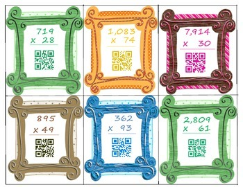 Multiplication and Division QR Code Task Cards