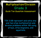 Multiplication and Division Quick Assessment