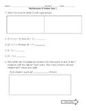 Multiplication and Division Quiz #1