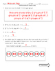 Multiplication and Division Quiz #1
