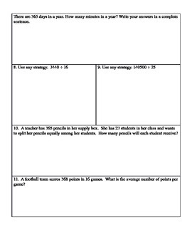 Multiplication and Division Quiz