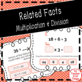 Multiplication and Division Related Facts Boom Cards Dista