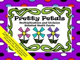 """Multiplication and Division Related Math Facts """"Pretty Petals"""""""