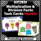 3rd Grade Multiplication and Division Games with Task Cards BUNDLE