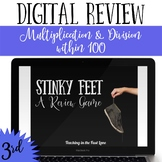 Multiplication and Division Review Game Stinky Feet