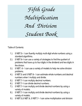 Multiplication and Division Review Packet