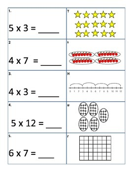 Multiplication and Division Review Treasure Hunt