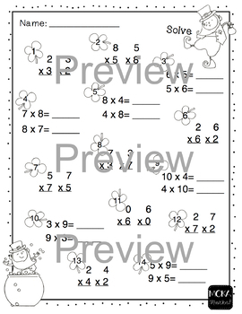 Multiplication and Division Review Worksheets