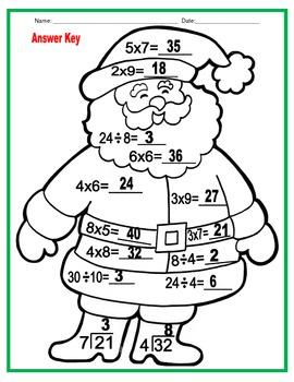 Multiplication and Division Santa