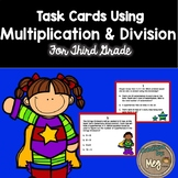 Multiplication and Division Scoot for Third and Fourth Grade