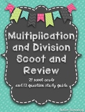 Multiplication and Division Scoot and Study Guide