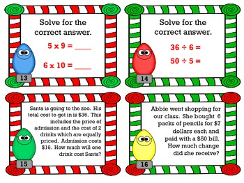 Multiplication and Division Scoot with Factors of 6, 7, 8, 9, 1, 0