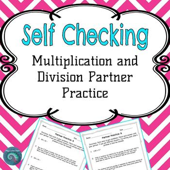 Multiplication and Division Self Checking Partner Practice