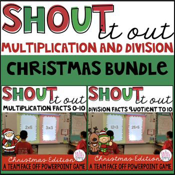 Multiplication and Division Facts 0-10 BUNDLE (Christmas Edition)