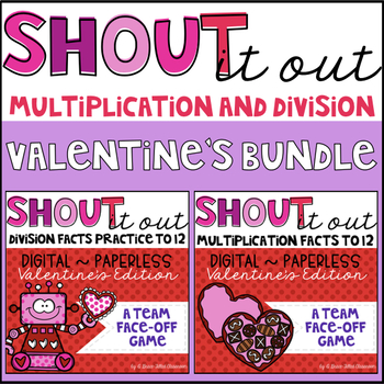 Multiplication and Division Facts 0-12 BUNDLE (Valentines Edition)