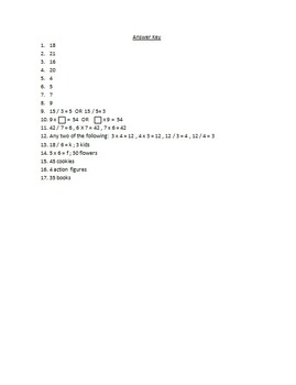 Multiplication and Division Skills Assessment- Editable