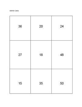 Multiplication and Division Small Group Activities