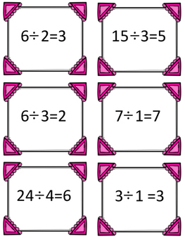 Multiplication and Division Snack Arrays