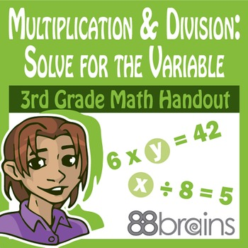 Multiplication and Division: Solve for the Variable pgs. 5-7 (CCSS)