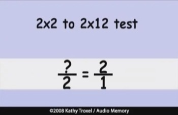 Multiplication and Division Songs DVD (plus Fractions) Kathy Troxel