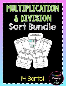 Multiplication and Division Sort Bundle-Over $30 Value