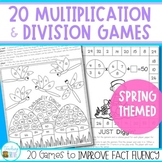 Spring Math Games - Multiplication and Division Facts Practice