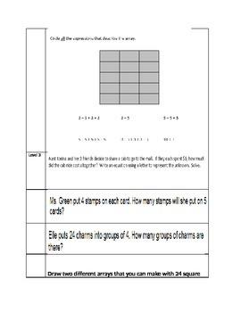 Multiplication and Division Standards Based Assessment