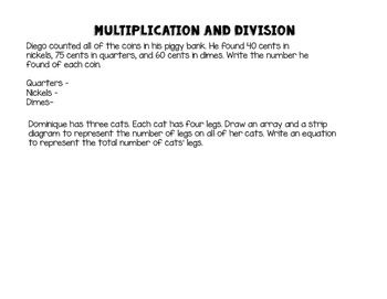 Multiplication and Division Story Problems - Quick Review